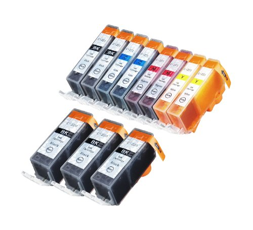 11 Pack Compatible CLI 221 , CLI-221 , CLI221 , PGI 220 , PGI-220 , PGI220 3 Big Black, 2 Small Black, 2 Cyan, 2 Magenta, 2 Yellow for use with Canon PIXMA Ip3600, PIXMA Ip4600, PIXMA Ip4700, PIXMA MX860, PIXMA MX870. PIXMA Ip 3600, PIXMA Ip 4600, PIXMA Ip 4700, PIXMA MX 860, PIXMA MX 870.. Ink Cartridges for inkjet printers. Blake Printing Supply