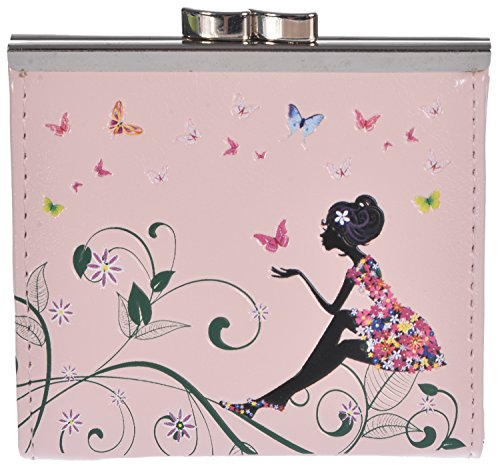 Shagwear Women's Coin Purse Pink Butterfly Oasis