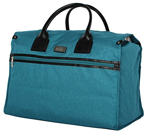 Nicole Miller New York Rosalie Collection Weekender Carry On Box Bag (Teal)