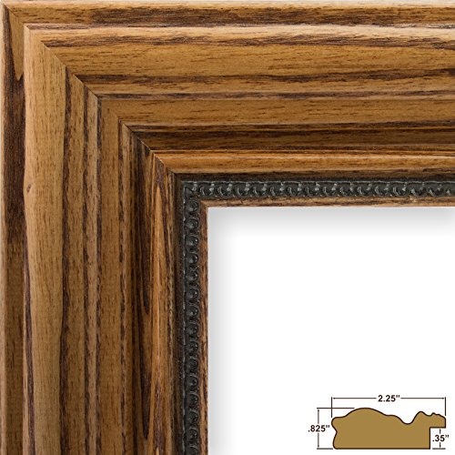Craig Frames 15177483250 8.5 by 11-Inch Picture Frame, Solid Wood, 2.25-Inch Wide, Honey Oak