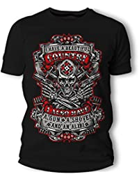 """<span class=""""a-offscreen"""">[Sponsored]</span>Skull Cool Graphic T-Shirt For Men Short Sleeve Athletic Funny Black Tees"""