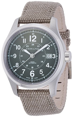 Hamilton-H70595963-Khaki-Field-Automatic-Mens-Watch-Green-Dial