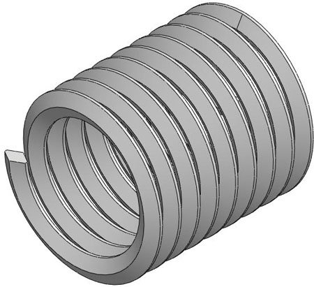 1/2-13 Coarse Thd., .750 Lg., Free Running, HeliCoil Screw Locking Inserts (1 Each) by RSC (Image #1)
