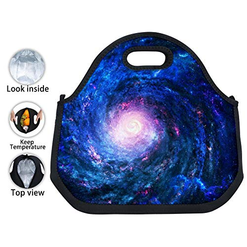 - Star Clusters Nebulae Aluminum Foil Insulated Zip Insulated Cooler Bags Portable Waterproof Large Capacity Lunch Box for Women,Men,Adults,Girls,Boys,Office,School,Picnic
