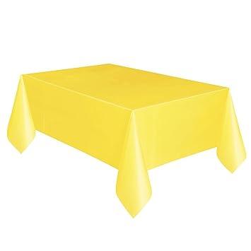 Partido Ênico 9 x 4,5 pies Mantel Plástico (Soft amarillo)