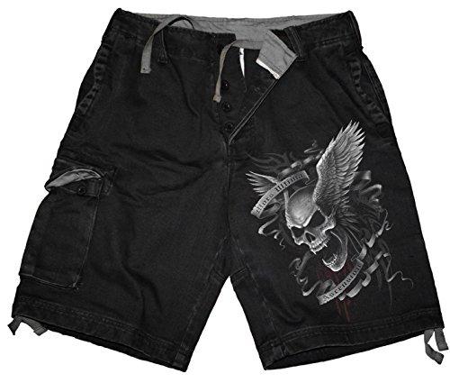 Spiral - Mens - ASCENSION - Vintage Cargo Shorts Black - L