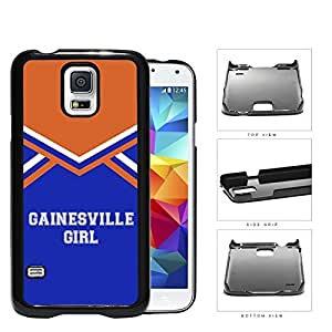Gainesville City Girl School Spirit Cheerleading Uniform Samsung Galaxy S5 SM-G900 Hard Snap on Plastic Cell Phone Cover