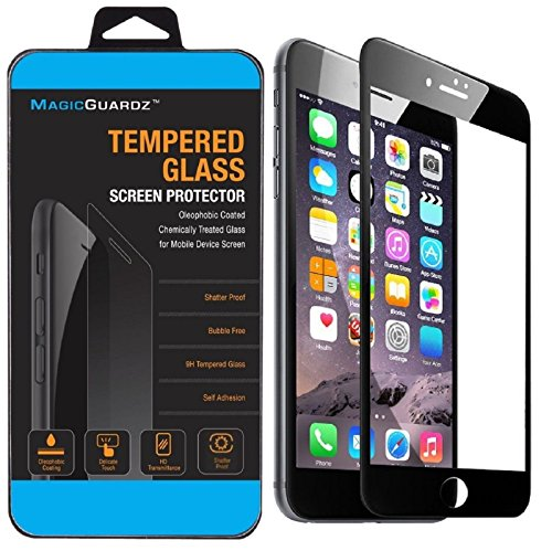 MagicGuardz, Made for Apple 5.5 iPhone 7 Plus, 3D Full Cover Tempered Glass Carbon Fiber Screen Protector (Black)