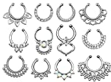 Non-Piercing Septum Hanger 3/8 (Sold Individually) & FREE ITEMS
