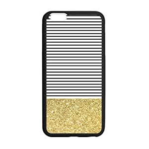 Canting_Good Simple Stripes Small Shiny Gold Custom Case Cover Shell for iPhone 5C TPU (Laser Technology)