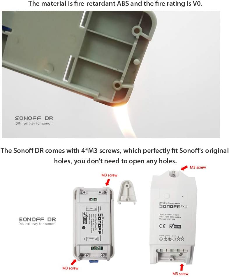 Hotaluyt Smart Home Sonoff TH10 WiFi Smart Switch 10A Temp/érature et humidit/é capteur t/él/écommande