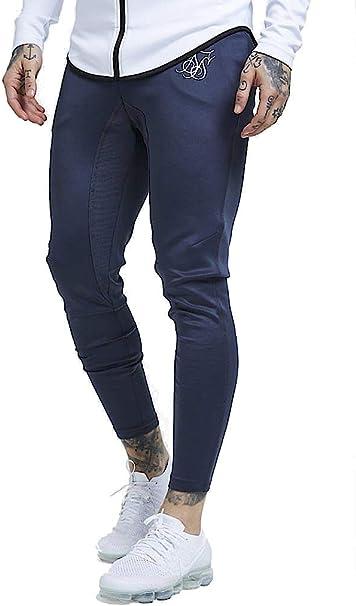Sik Silk Athlete Pantalones Hombre Carbón L (Large): Amazon.es ...