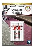 organ twin needle - Organ Needles 4964832520807 Twin Needles #80/2.0 Twin Universal X 2 Needles