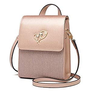 FOXER Women Leather Crossbody Bag Small Purse Cell Phone Purse Wallet For Women