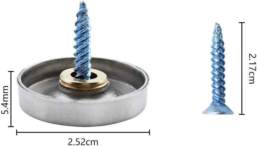 decoraci/ón para mesas de t/é armarios KingYH 24 unidades de clavos decorativos de acero inoxidable de 25 mm con tapas decorativas y tapones de goma para espejo