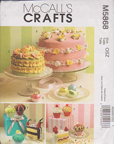 McCall's Patterns M5868 Sachets, Pin Cushions and Magnets, One Size Only