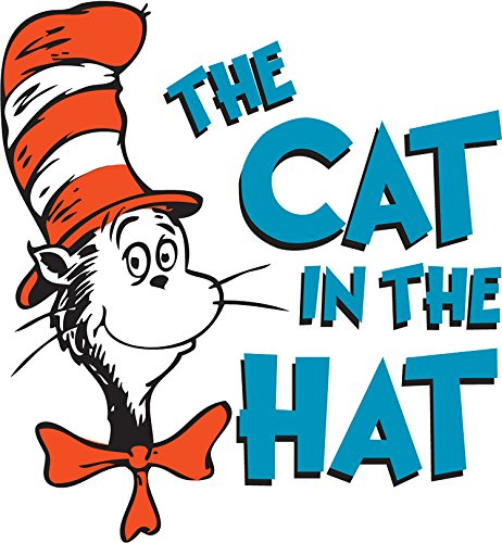 Dr. Seuss The Cat in The Hat Iron On Transfer for T-Shirts & Other Light Color Fabrics #2