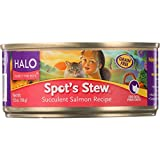 Halo Purely For Pets Cat Food, Spots Stew Succulent Salmon – (Case of 12 – 5.5 oz) Review