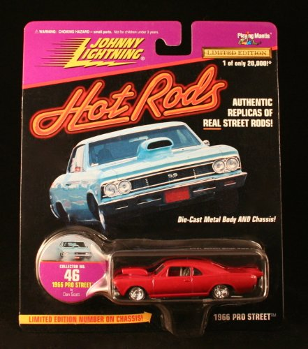 1966 PRO STREET * MAROON * Johnny Lightning 1997 HOT RODS Release Two 1:64 Scale Die Cast Vehicle -