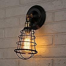 T.Y.S Lighting Vintage 1 Light Industrial Wire Cage Sailor Pendant Wall Sconce (Sailor pendant-bronze)