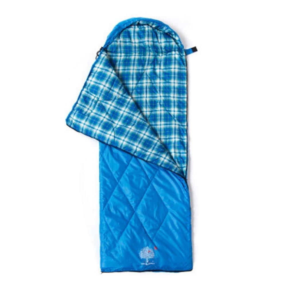 bleu 1300g POOU Sac de Couchage Simple pour Adulte en Plein air Sac de Couchage pour Le déjeuner de Bureau
