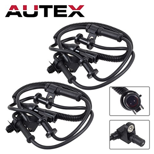 AUTEX 2PCS ABS Wheel Speed Sensor Front Left & Right ALS197 5S6024 SU7557 Compatible with Ford Excursion 2000-2005/Ford F-450 1999-2004/Ford F-250 & F-350 & F-450 & F-550 Super Duty 1999-2004 4WD