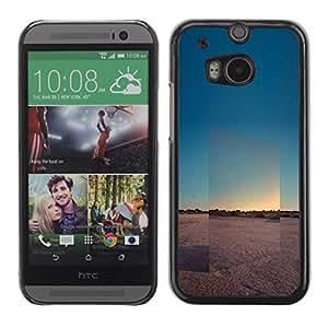 rígido protector delgado Shell Prima Delgada Casa Carcasa Funda Case Bandera Cover Armor para HTC One M8 /View Landscape Horizon Desert/ STRONG