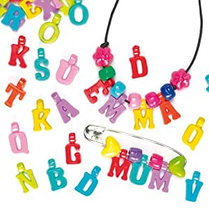 Plastic Alphabet Charms for Children's Personalised Jewelry Making(Pack of 160)