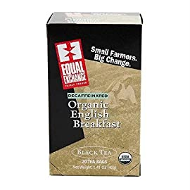 Equal Exchange, Tea English Breakast Decaf Fair Trade Organic, 20 Count 5 Decaffeinated Organic English BreakfastA decaffeinated alternative to our signature tea Equal Exchange