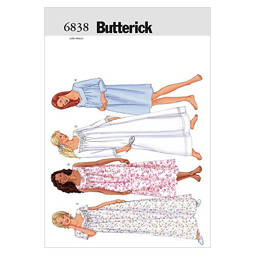 BUTTERICK PATTERNS B6838 Misses'/Misses' Petite Nightgown, Size LRG (L-XL) from BUTTERICK PATTERNS
