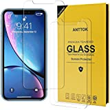 ANTTOK Tempered Glass Screen Protector for Apple Phone iPhone XR [6.1 inch] HD Screensaver Film [3 Pack] Clear