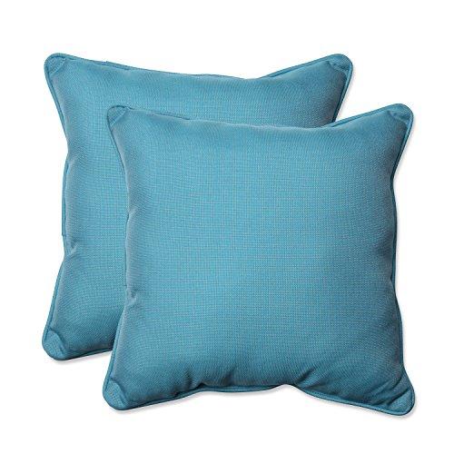 (Pillow Perfect Outdoor/Indoor Tweed Throw Pillow (Set of 2), 18.5