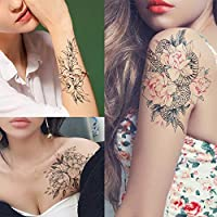 HXMAN 3 Hoja Temporal Tatuaje Pegatina Caliente Falso Tatoo Pájaro ...