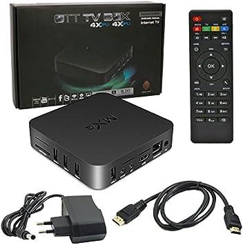 UNIVERSALE Box Smart TV Wi Fi Internet Android 4.4 QuadCore mxq-TV Full HD 1080p, RAM 1 GB, con Mando a Distancia, Puerto HDMI y 4 Puertos USB: Amazon.es: Electrónica