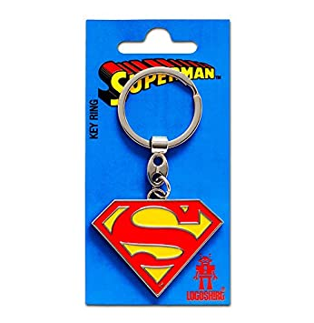 Llavero Superman Logotipo - Llavero DC Comics - Superman Logo - Superhéroe - Key-Ring - coloreado - Diseño original con licencia - Logoshirt