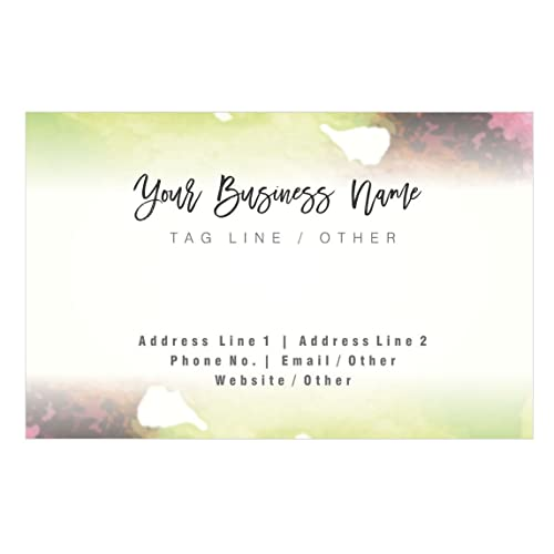 Personalised business cards amazon design your own personalised artistic business card custom visiting card front colourmoves