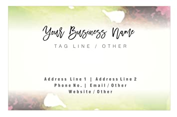 Design your own personalised artistic business card custom visiting design your own personalised artistic business card custom visiting card front reheart Gallery