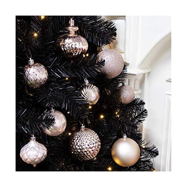 Busybee Unbekannt Palline di Natale 34 Pezzi 6 cm Rosa Cipria Palline Natalizie Ornamento di Palla di Natale per la Decorazione dell'albero di Natale 3 spesavip