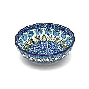 Polish Pottery Shallow Scalloped Small Bowl – Antique Rose