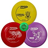 Driven Disc Golf - 3 Disc Starter Set - Perfect for Beginners - Includes a FREE BONUS Mini Disc and a 100% Satisfaction Guarantee
