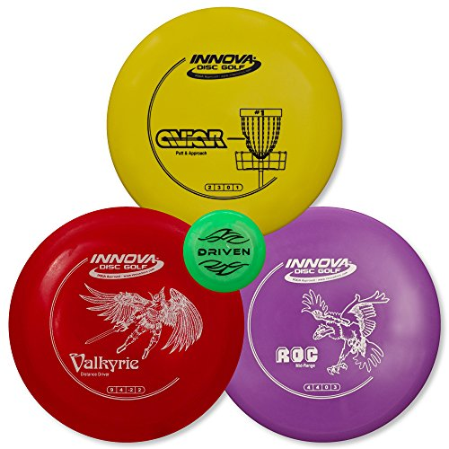 driven-disc-golf-3-disc-starter-set-perfect-for-beginners-includes-a-free-bonus-mini-disc-and-a-100-