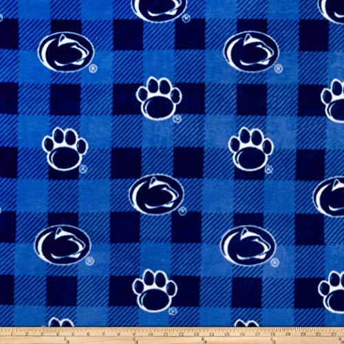 Sykel Enterprises NCAA-Penn State 1190 Buffalo Plaid Fleece Multi, Fabric by the Yard