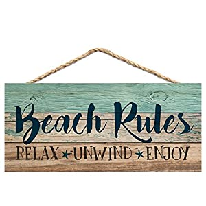 51CcarcrWtL._SS300_ Wooden Beach Signs & Coastal Wood Signs