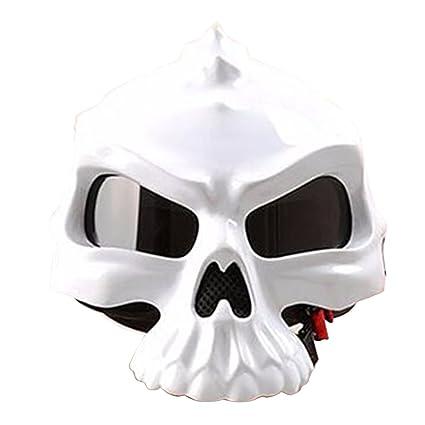 West Biking - Casco de cara abierta 3D diseño de calavera ...