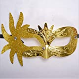 Carnival Mask - Luxurious Series Filigree Pattern Masquerade Masks - Costume Cosplay Mask for Masquerade Ball, Mardi Gras, Halloween Costume Party ( Yellow)