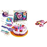 24pc Kids Birthday Party Cake Playset Dessert with Utensils Candles and Cutting Knife Grocery Play Set