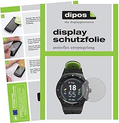 dipos I 6X Protector de Pantalla Mate Compatible con Denver SW-500 Smartwatch pelicula Protectora