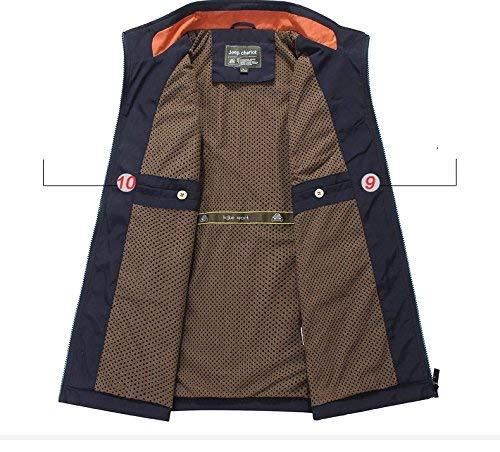 Caccia Multifunzionale Di Micofaser Emmay 2 Gilet Trekking Armygreen Rivestimento Essenziale Pesca Campeggio Maniche All'aperto Uomini Senza Vest IPI6Sxq