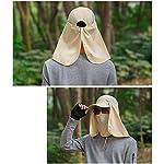 quanjucheer Capuchon de pêche, Protection UV extérieur pour Le Visage, Le Cou, la tête et la visière 11