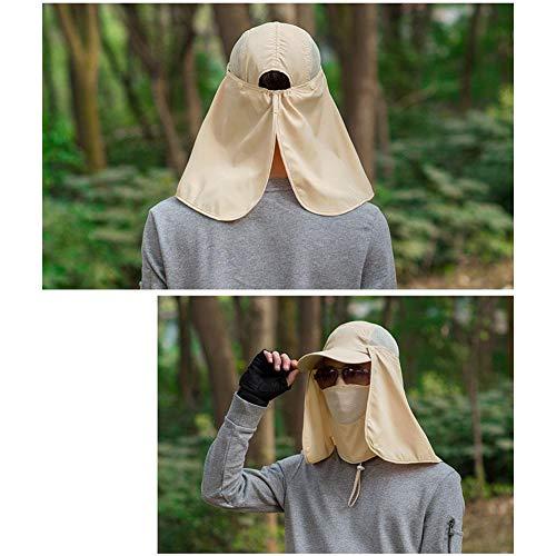 quanjucheer Capuchon de pêche, Protection UV extérieur pour Le Visage, Le Cou, la tête et la visière 4